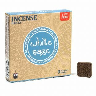Aromafume WHITE SAGE Incense Bricks (1 box = 9 bricks)